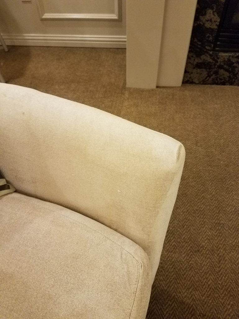 Green Stain Removal - Couch