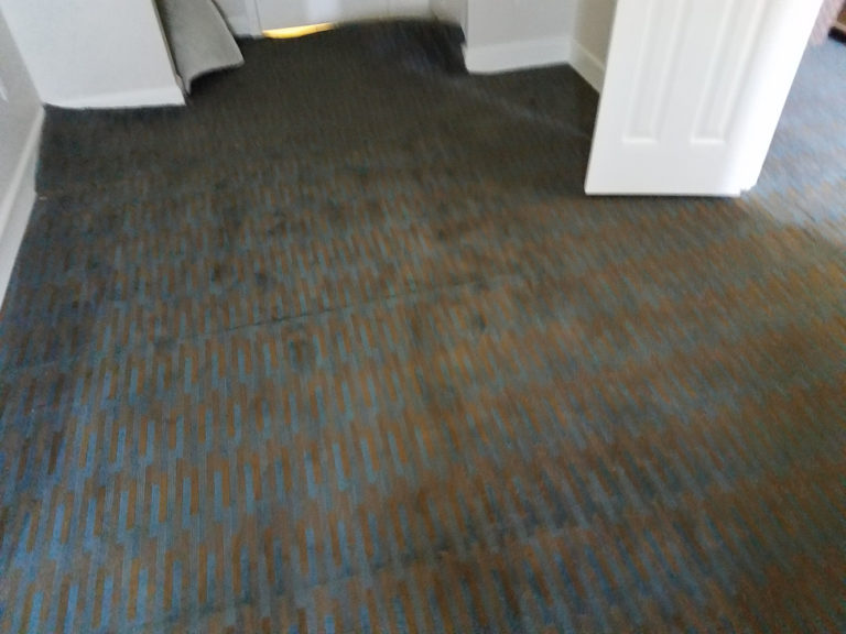 Carpet fan float from flood