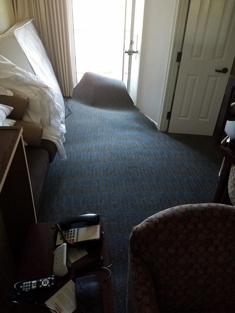 Carpet fan float from flood