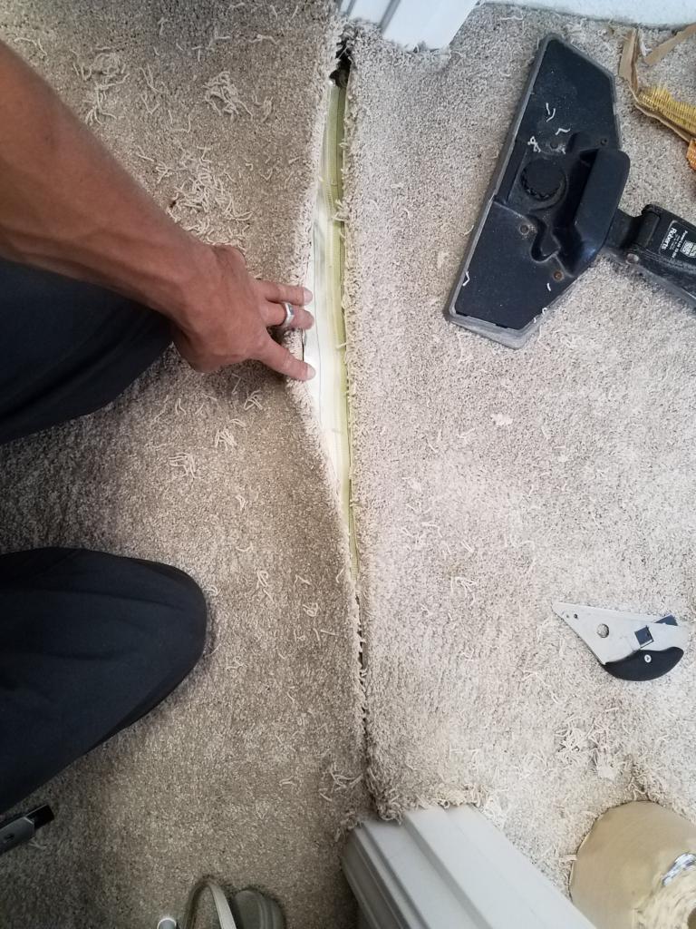 Fixing a seam