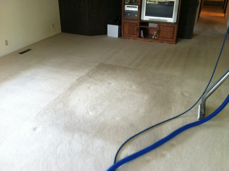 white carpet cleaning-before